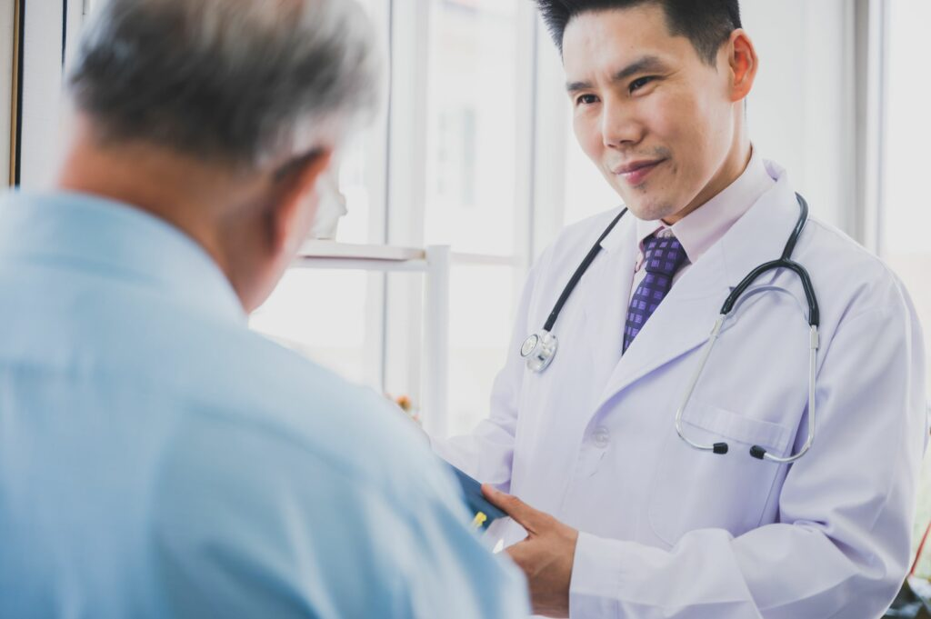 Doctor making sure patient data is secure and private
