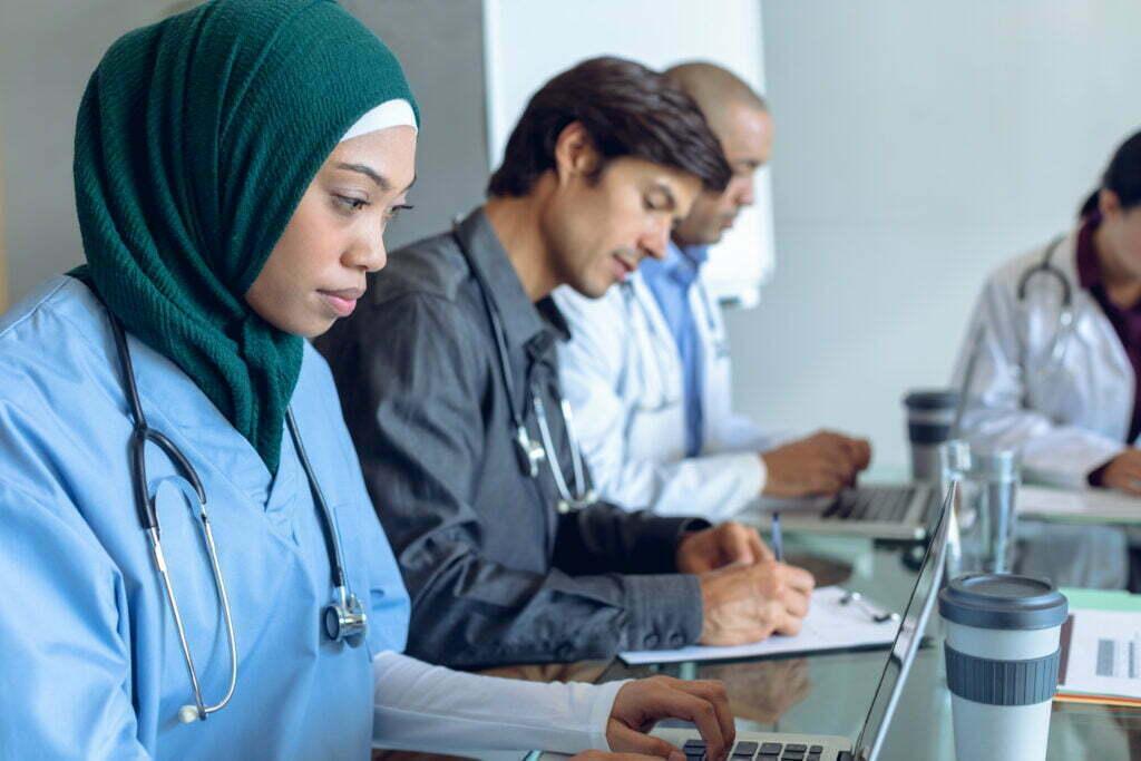 Doctors using DrKumo Remote Patient Monitoring program