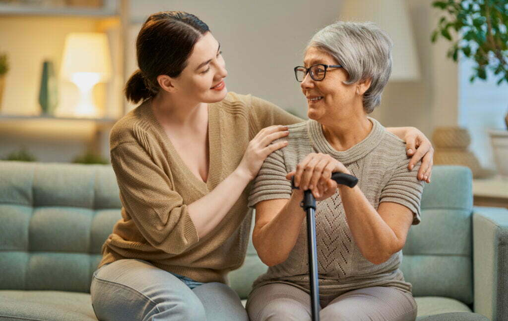 Happy patient and care provider using RPM
